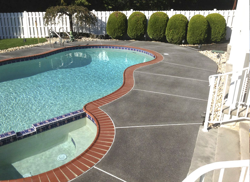 exterior concrete pool decks sparta nj
