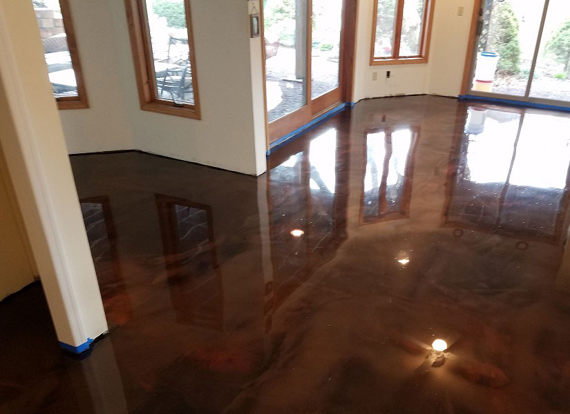 interior concrete floor installation andover nj